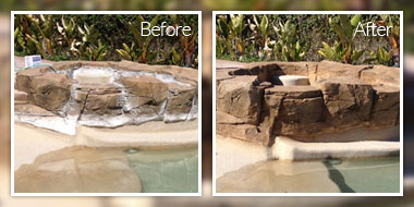 Pool Rehab Artificial Rock Painting California