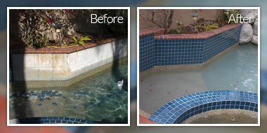 Pool Rehab tile repair california